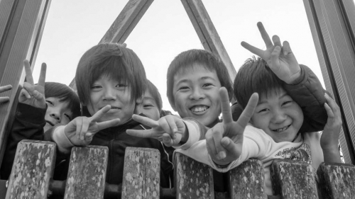 Faces of Japan (black & white)